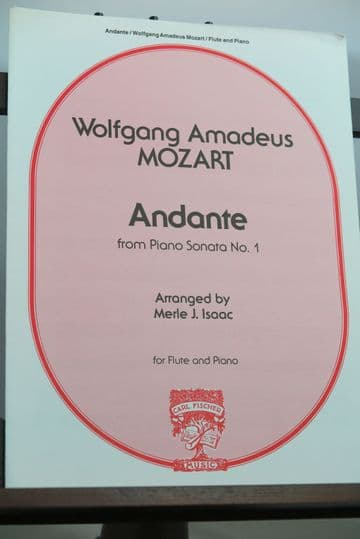 Mozart W A - Andante from the Piano Sonata No 1 for Flute & Piano arr Issac M J